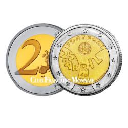 2 Euro Portugal 2014 - 40e anniversaire de la Révolution des Œillets