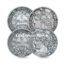 Lot de 1 et 2 Francs Cérès IIIe République