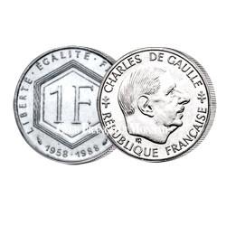 1988 - 1 Franc Vème République - De Gaulle