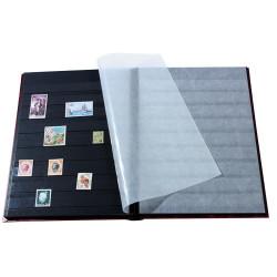 Les deux albums 4 000 timbres noir