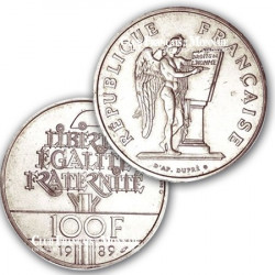 1989 - 100 Francs Argent Droits de l'homme