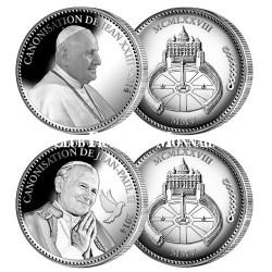 """Les pièces """"Canonisation"""" de Jean-Paul II et Jean XXIII 2014"""