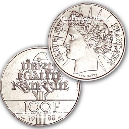 1988 - 100 Francs Argent Fraternité