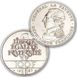 1987 - 100 Francs Argent La Fayette