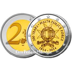 2 Euro Malte 2014 - 200e anniversaire de la Force de Police Maltaise