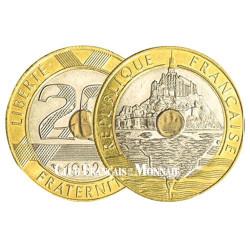 20 Francs bicolore Mont Saint-Michel
