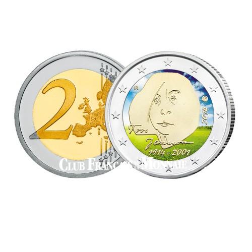 2 Euros Finlande 2014 colorisée - 100 ans de Tove Jansson