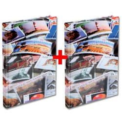 Les 2 albums pour 2000 timbres imprimés timbres