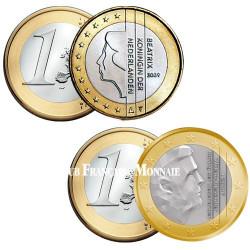 Lot des 2 x 1 Euro Pays-Bas Beatrix et Willem-Alexander