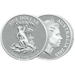 1 Dollar Argent Australie BU 2015 - Kangourou