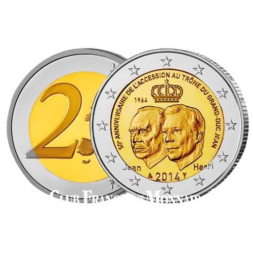 2 Euro Luxembourg 2014 - 50 ans accession au trône du Grand-Duc Jean