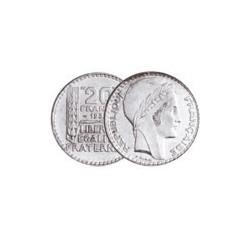 20 FRANCS ARGENT TURIN 1938