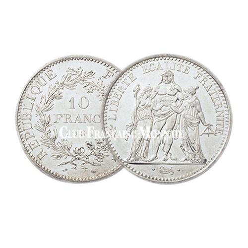 Lot de 9x10 Francs Argent Hercule