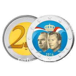 2 Euro Luxembourg 2014 colorisée - Grand-Duc Jean
