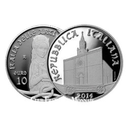 10 Euro argent Italie BE 2014 - Cathédrale Santa Maria