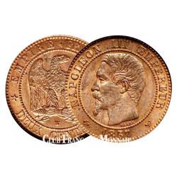 2 centimes bronze Napoléon III Tête Laurée