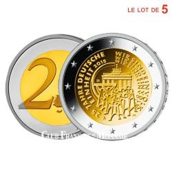 Série 5 x 2 Euro des 5 ateliers ADFGJ - 25e anniversaire de la Réunification
