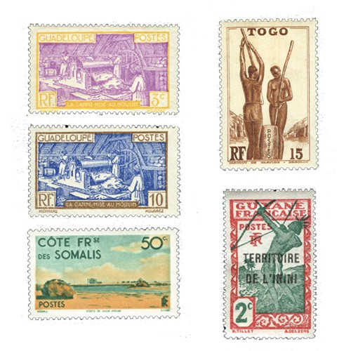 Timbres Colonies