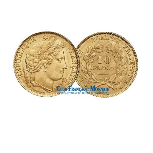 10 FRANCS OR CERES 1896A