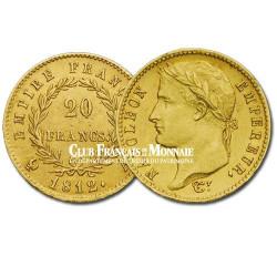 1812 - 20 FRANCS OR - NAPOLEON Tête Laurée