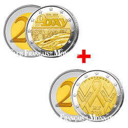 Lot de 2 Euro France 2014