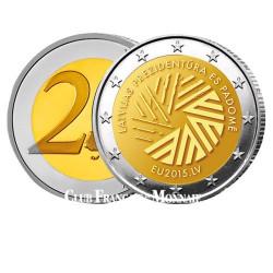 2 Euro Lettonie 2015 - Présidence de l'Union Européenne