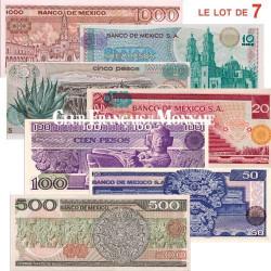 7 billets du Mexique en Pesos
