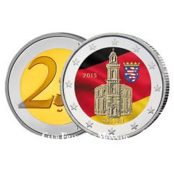 2 Euro Allemagne colorisée 2015 - Eglise Saint-Paul La Hesse