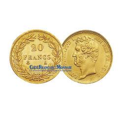 20 FRANCS OR 1831  A - LOUIS PHILIPPE Ier - TETE NUE TRANCHE EN RELIEF