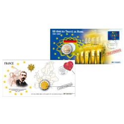 """L'enveloppe """"1er Jour d'émission"""" Pierre de Coubertin - 1 achetée - 1 offerte"""