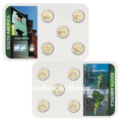 Série de 5 monnaies en Pesos Argentine 2012
