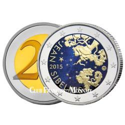 2 Euro Finlande colorisée 2015 - 150 ans de Jean Sibélius
