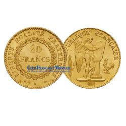 20 FRANCS OR GENIE 1874 A  - IIIe REPUBLIQUE