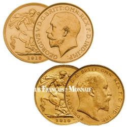 Les 2 Souverains Or Edouard VII et George V