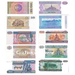 10 Billets Birmanie 1994-1998