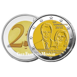 2 Euro Luxembourg 2015 - 15 ans intronisation Grand-Duc Henri