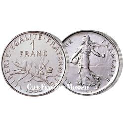 20 pièces de 1 Franc