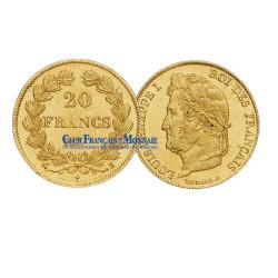 20 FRANCS OR 1834  A - LOUIS PHILIPPE Ier - TETE LAUREE