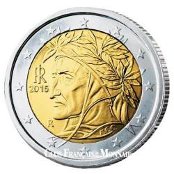 Set 2 x 2 Euro Italie BU 2015 - 750e anniversaire de  la naissance de Dante