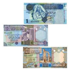 Set de 3 billets Libye 2002-2004