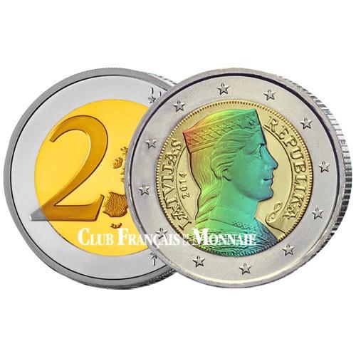 2 Euro Lettonie Hologramme 2014 - Milda