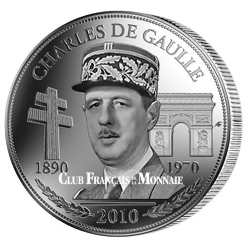 Médaille Charles de Gaulle souvenir - 2010