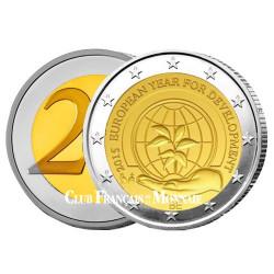 2 Euro Belgique BU 2015 - L'Année européenne  du développement