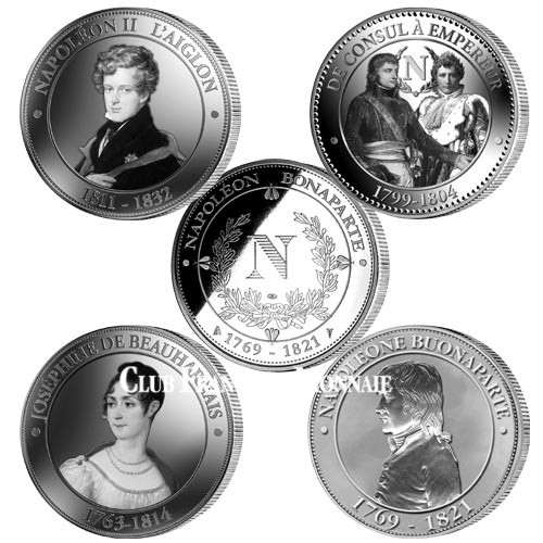 Lot des 4 médailles : L'épopée Napoléonienne