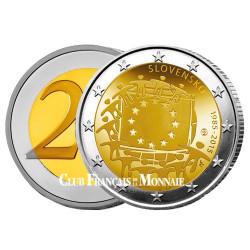 2 Euro Slovaquie 2015 - 30e anniversaire du drapeau européen
