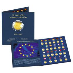 Album de rangement - 2 Euro Drapeaux