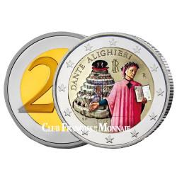 2 Euro colorisée Italie 2015 - 750e anniversaire de la naissance