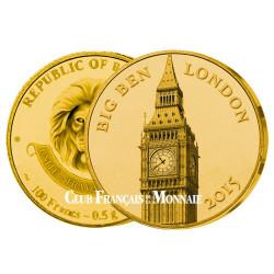 100 Franc CFA Or BE 2015 - Big Ben