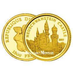 1 500 Francs Or Congo BE 2005 - Le château de Neuschwanstein