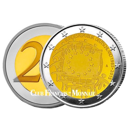 2 Euro Allemagne 2015 - 30ème anniversaire du drapeau européen